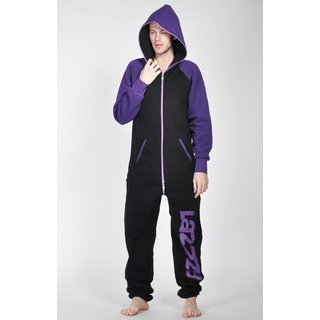 Lazzzy ® DUO Black / Purple Jumpsuit Onesie Overall