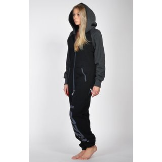 Lazzzy ® DUO Black / Graphite Jumpsuit Onesie Overall