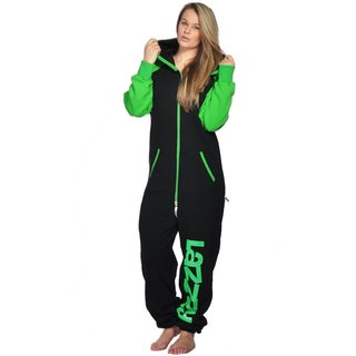 Lazzzy ® DUO Black / Green Jumpsuit Onesie Overall
