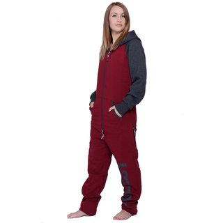Lazzzy ® DUO Claret red / Graphite Jumpsuit Onesie Overall