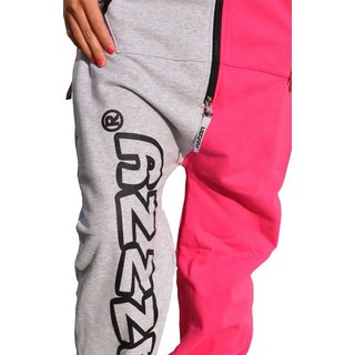 Lazzzy ® Grey / Pink Jumpsuit Onesie Overall