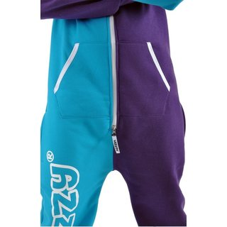 Lazzzy ® Torquoise / Purple Jumpsuit Onesie Overall