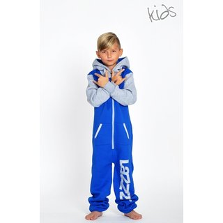 Lazzzy ® Blue / Grey Kids Jumpsuit Onesie Overall