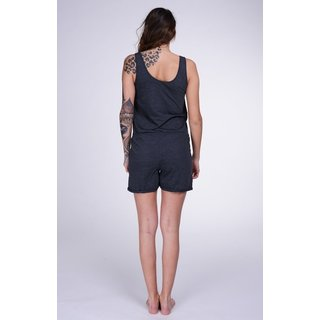 Lazzzy ® Graphite Grey grau SUMMY Short Jumpsuit Onesie Overall
