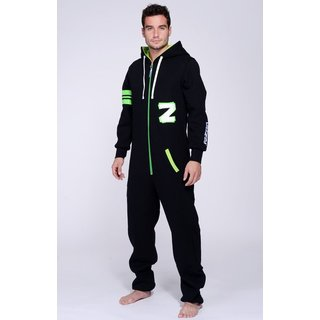 Lazzzy ® Fashion Black Acid green Jumpsuit Onesie Overall