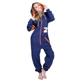 Lazzzy ® Fashion Blue Jeans Orange Jumpsuit Onesie Overall