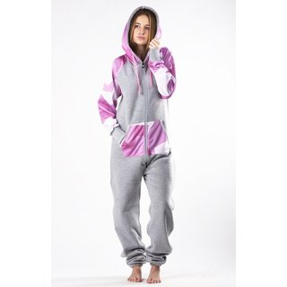 Lazzzy ® LIMITED Grey Camo Pink Jumpsuit Onesie Overall